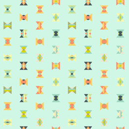 Tula Pink Spirit Animal Arrowheads fabric - Sun Kissed