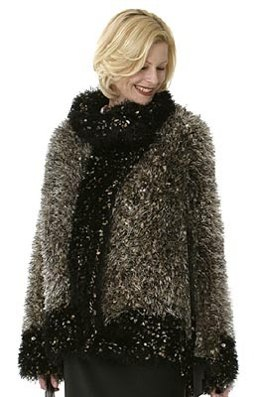 Rich 'Fur' Coat in Lion Brand Wool-Ease and Fun Fur - 50034