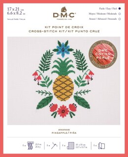 DMC Pineapple (Coton Perlé) Cross Stitch Kit