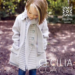 """Girls' Cecilia Coat"" - Coat Knitting Pattern For Girls in MillaMia Merino Wool"