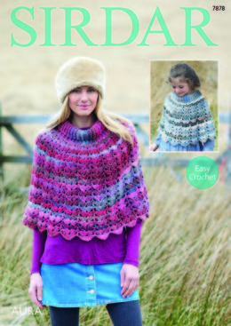 Ponchos in Sirdar Aura - 7878 - Downloadable PDF