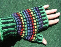 Stained glass mitts