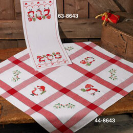 Permin Elves with Gifts Table Runner Cross Stitch Kit (26 x 62cm)