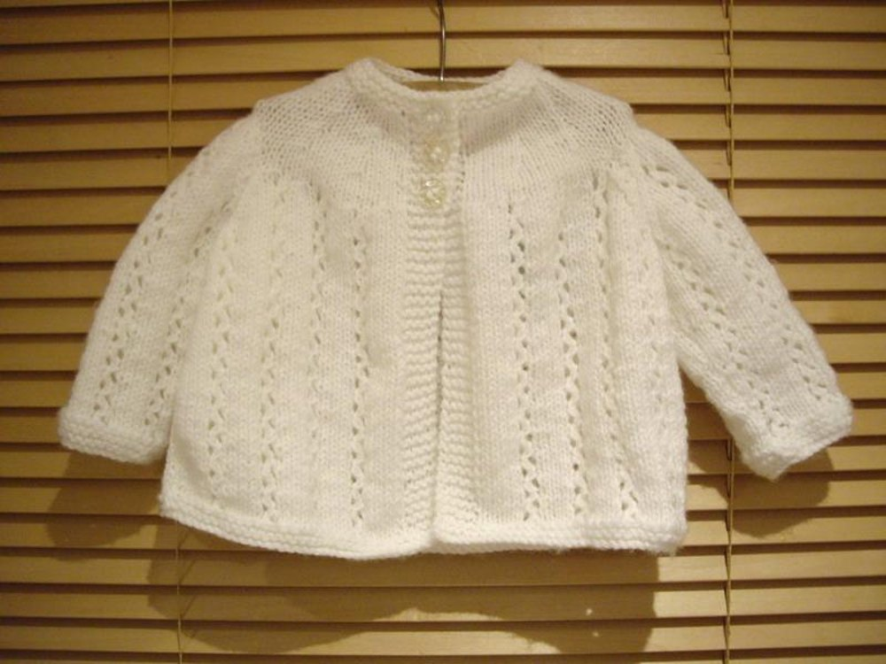 Baby Traditional Matinee Jacket Knitting Pattern By Ardree