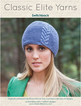 Switchback Hat in Classic Elite Yarns Avenue - Downloadable PDF