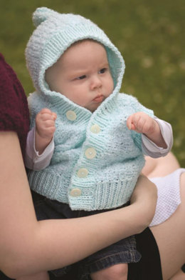 Baby Cardigan in Plymouth Yarn Dreamland and Dreamland Fancy - 1973 - Downloadable PDF