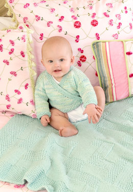 Cotton Baby Set in Blue Sky Fibers Worsted Cotton