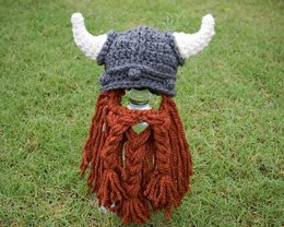 Viking Hat with Beard