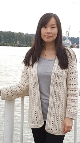 Sporty One-Piece Cardigan