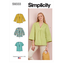 Simplicity Misses' Top with Sleeve Variations S9333 - Sewing Pattern