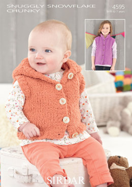 Gilets in Sirdar Snuggly Snowflake Chunky - 4595