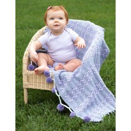 PomPoms and Ripples Blanket in Patons Beehive Baby Sport - Downloadable PDF