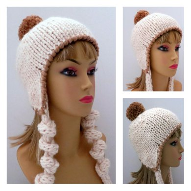 Snowball Hat with Plump Ties