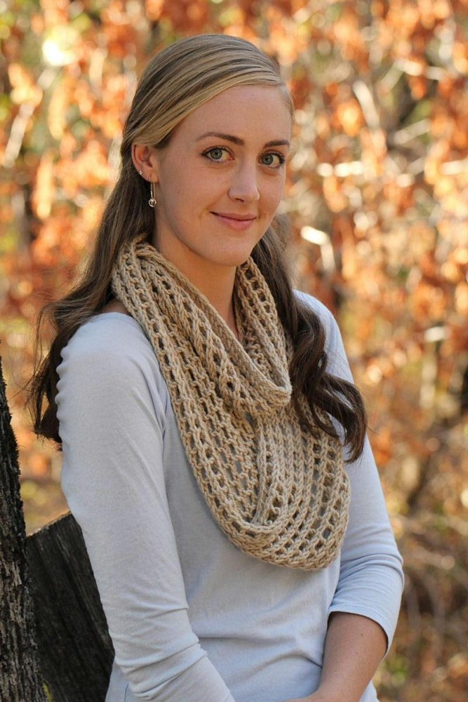 Mammoth Mill Infinity Scarf Knitting Pattern By Maria Olson