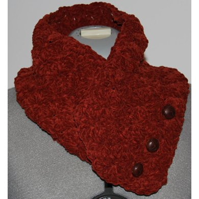 Suede Button Closure Neckwarmer Cowl