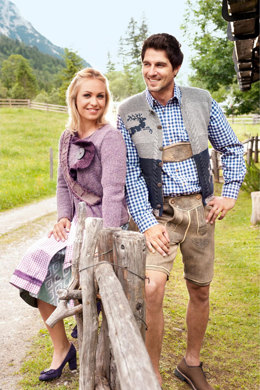 Trachtenjacke und Band in Lana Grossa Royal Tweed & Silkhair - Downloadable PDF