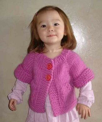 feb4eeaf24e9  72 Child s Top-Down Short-Sleeved Cardigan Knitting pattern by ...