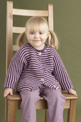 Cheerful Baby Cardigan in Lion Brand Cotton-Ease - 70624AD