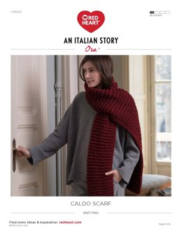 Caldo Scarf in Red Heart Ora - LM6053 - Downloadable PDF