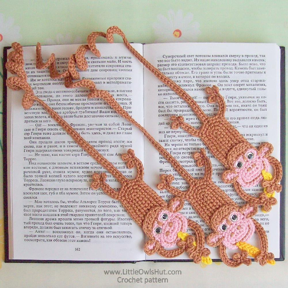 029 Monkey bookmark amigurumi Ravelry Crochet pattern by Kate ...