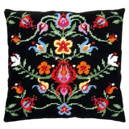 """Vervaco Folklore II Cushion Tapestry Kit - 40 x 40cm / 16"""" x 16"""""""