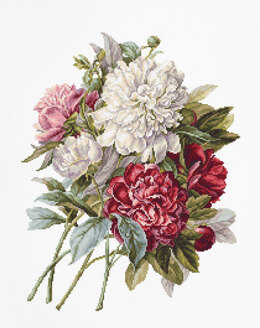 Luca-S The Peonies Cross Stitch Kit - Multi