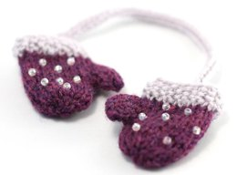 Christmas Glamour Beaded Mini Mittens Decoration