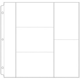 """We R Memory Keepers We R Ring Photo Sleeves 12""""X12"""" 10/Pkg - (3) 4""""X6"""" & (2) 6""""X4"""" Pockets"""