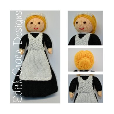 Violet - A Lady's Maid Doll Knitting Pattern