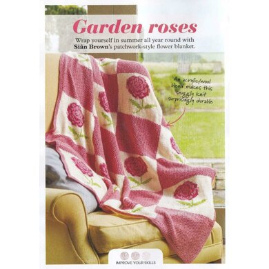 Rose and Moss Blanket