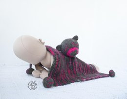Bear Toy baby lace blanket