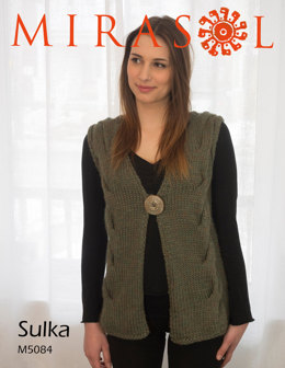 Sleeveless Cardigan in Mirasol Sulka - M5084