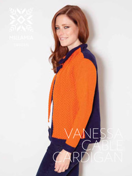 Vanessa Cable Cardigan in MillaMia Merino Wool - Downloadable PDF