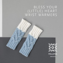 Bless Your (Little) Heart Wrist Warmers in MillaMia Naturally Soft Merino - Downloadable PDF