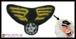 Crochet Applique Pattern Military Wings Badge Emblem