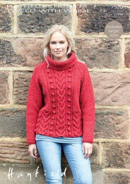 Sweater in Hayfield Chunky Tweed with Wool - 7520