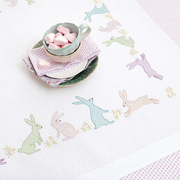 Rico Rabbits 90 x 90cm Embroidery Tablecloth Kit