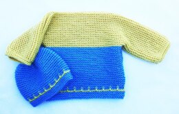 Garter Stitch Easy Baby Sweater