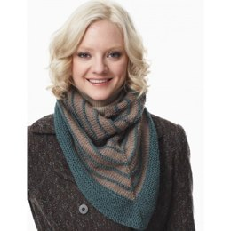 Cozy Striped Kerchief Shawls in Patons Canadiana