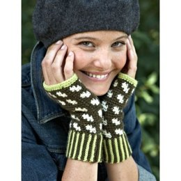 Fair Isle Fingerless Mitts in Patons Classic Wool DK Superwash - Downloadable PDF