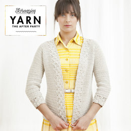 Yarn, The After Party: Linen & Lace Cardigan in Scheepjes Linen Soft - 01