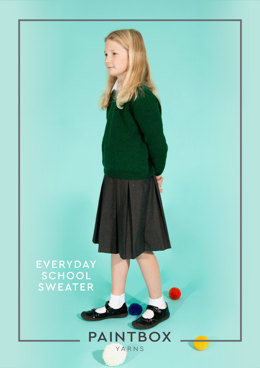 """Everyday School Jumpers"" - Jumper Knitting Pattern in Paintbox Yarns Simply DK"