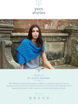 Gypsum Scarf in Yarn Stories Fine Merino DK - Downloadable PDF