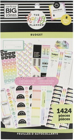 Me & My Big Ideas Happy Planner Sticker Value Pack - Budget, 1424/Pkg