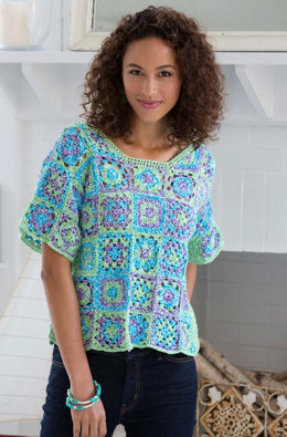 Crafty Crochet Top in Aunt Lydia's Baker's Cotton - LC3856 - Downloadable PDF