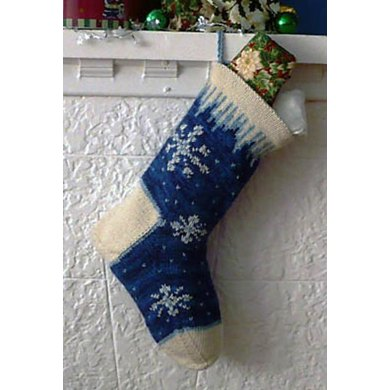 Icicle Christmas Stocking