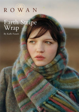 Earth Stripe Wrap in Rowan Kidsilk Haze