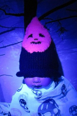 Baby Pink Halloween Ghost Head Beanie