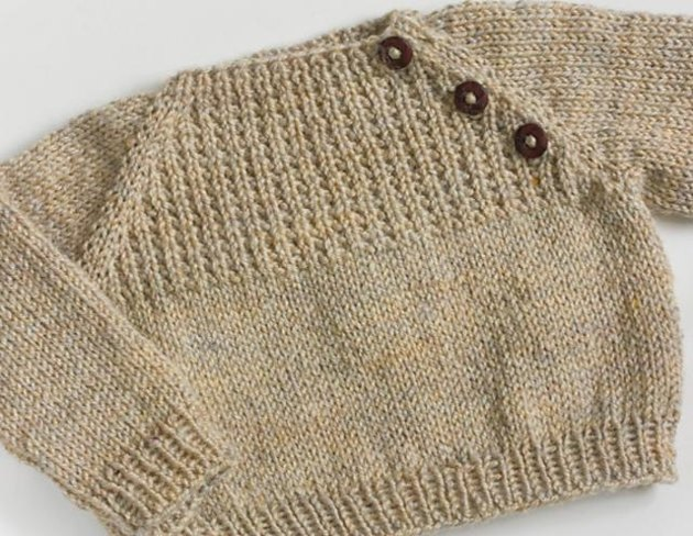 Knitting Pattern For Newborn Jumper : Oatmeal Sweater Knitting pattern by Sarah Cooke