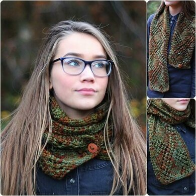 Autumn forest scarf